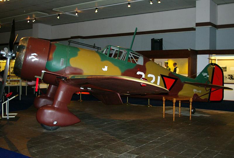 Fokker D-XXI Mock-up in Dutch military aviation museum Soesterberg