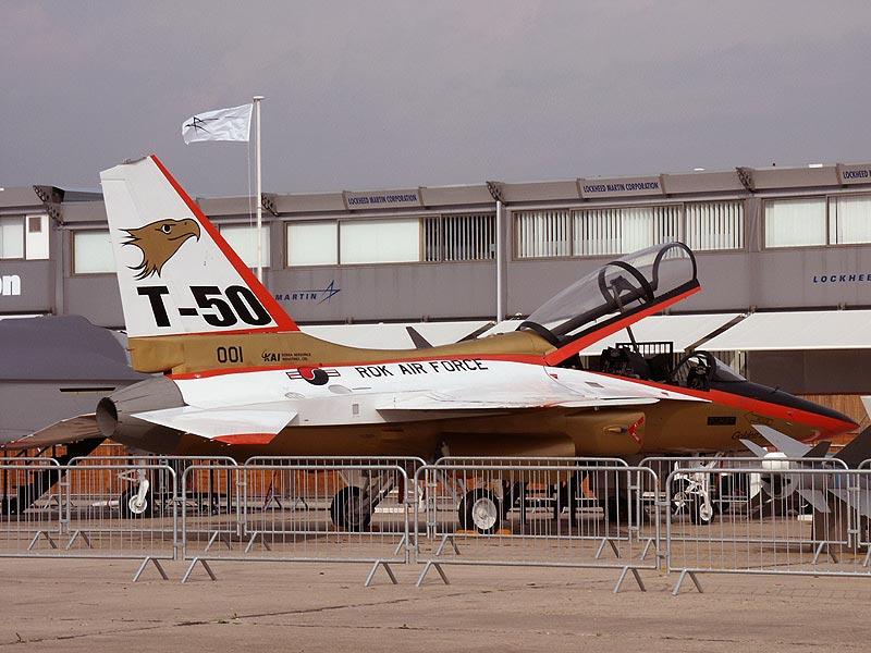 KAI T-50 Golden Eagle mock-up at the Paris Air Show.