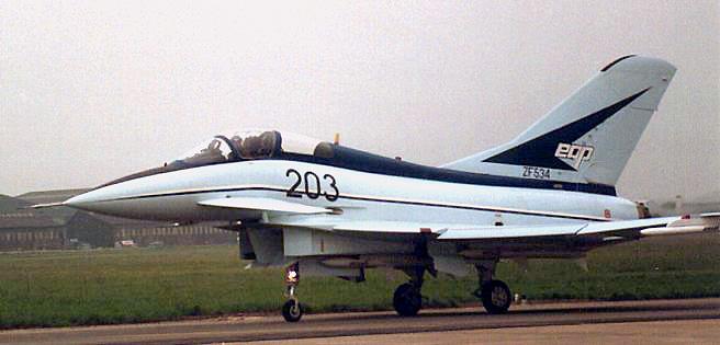 ZF534 British Aerospace EAP demonstrator at the Paris Air Show 1987.