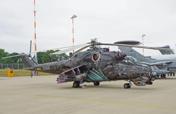 Mil Mi-35 3366 221 vrl Czech Air Force 2016 tiger c/s