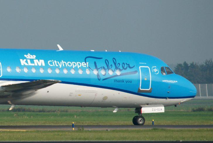 Fokker 70 PH-KZU KLM Cityhopper Fokker Thank You